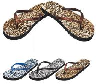 Ladies Flip Flops--Cheetah Prints - Assorted Colors